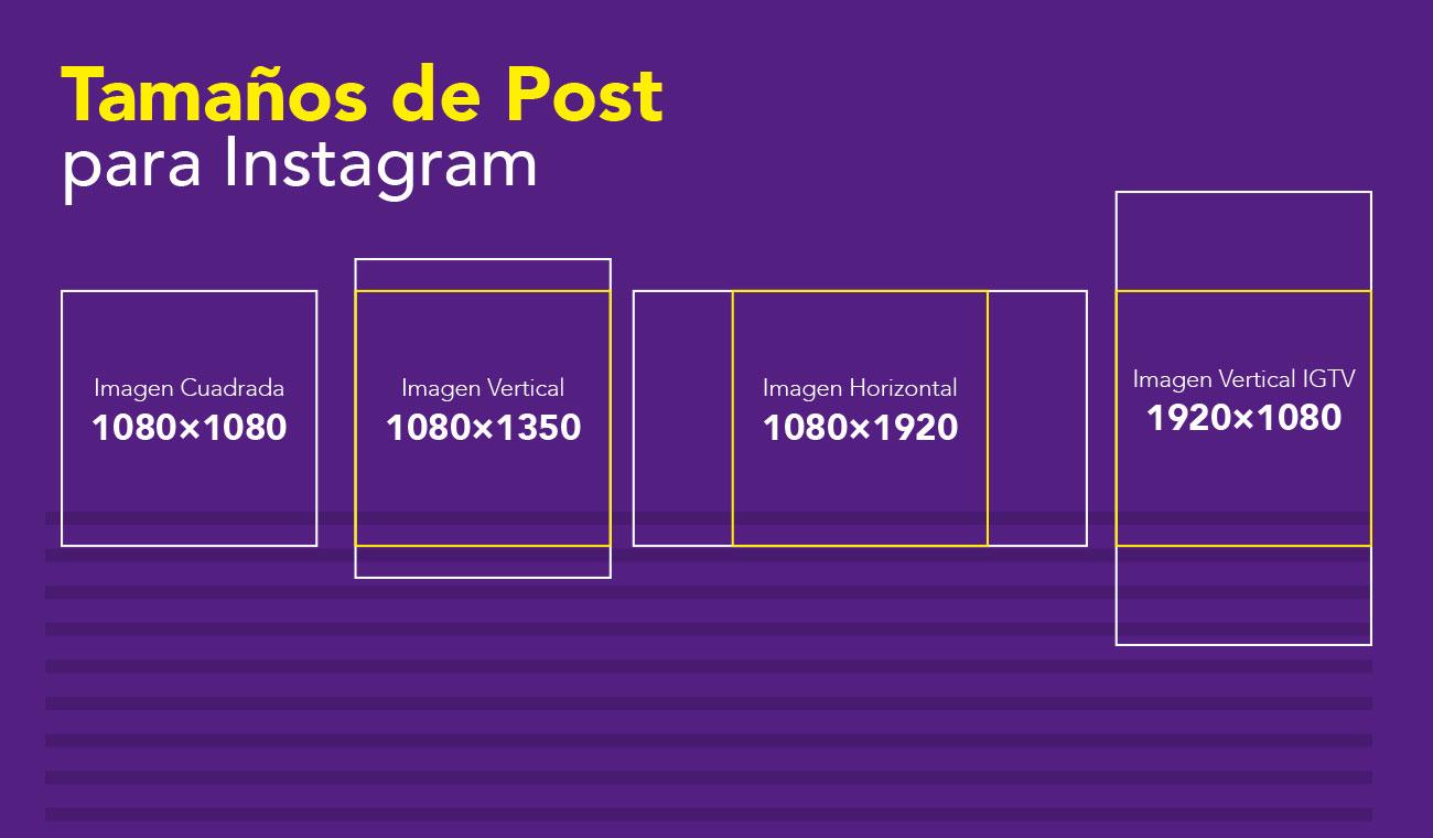 Tamaños de Post para Instagram